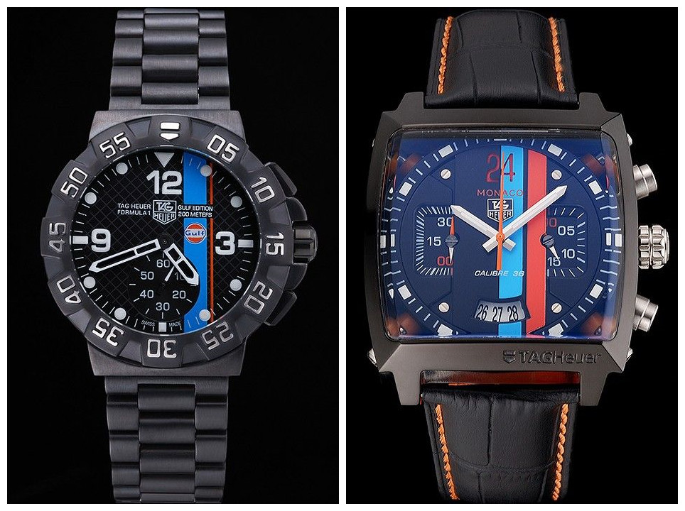 9caaad3999e Two of the bestselling models of replica Tag Heuer watches for men are: