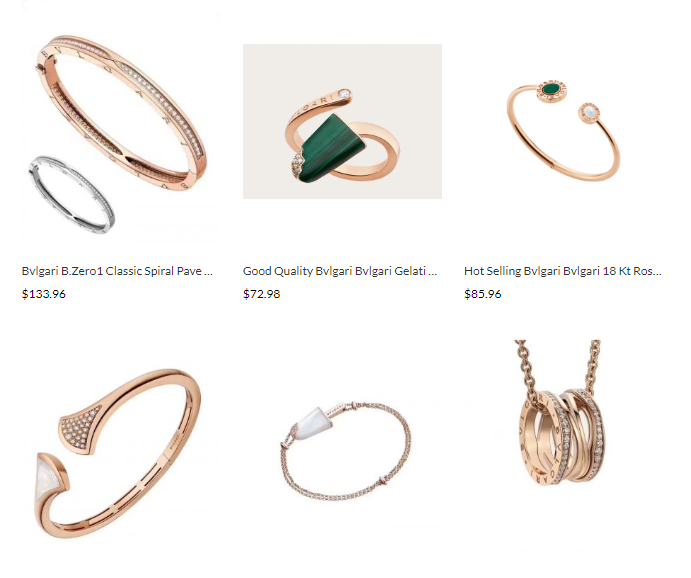designer replica jewelry bvlgari sale